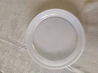 Тарелка мелкая пластиковая одноразовая большая 100 шт