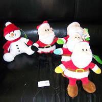 Мягкая игрушка Микс 2 вида (Дед Мороз, Снеговик), 4 цвета, муз., 20 см