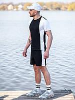 Мужской летний комплект BEZET (шорты+футболка), черно-белый мужской спортивный комплект, фото 1