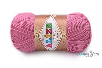 Alize Diva Stretch, Темно розовый №178