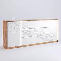 Комод 2Д3Ш 2.0 м. у вітальню Асті Дуб Крафт - Білий Глянець Міромарк