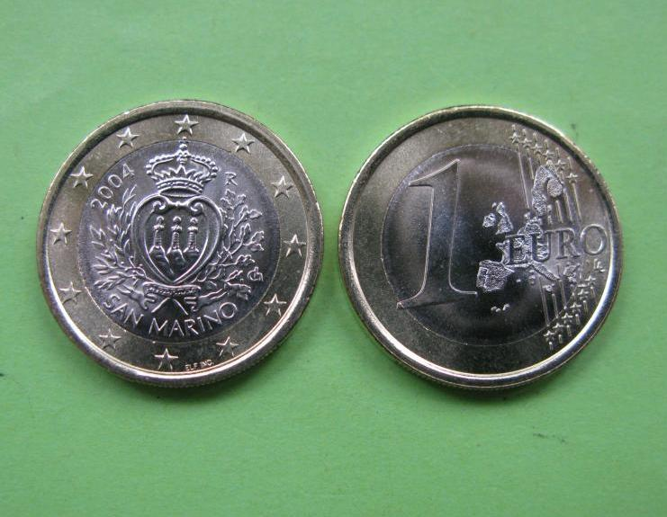 Сан Марино 1 євро 2004 р. UNC.
