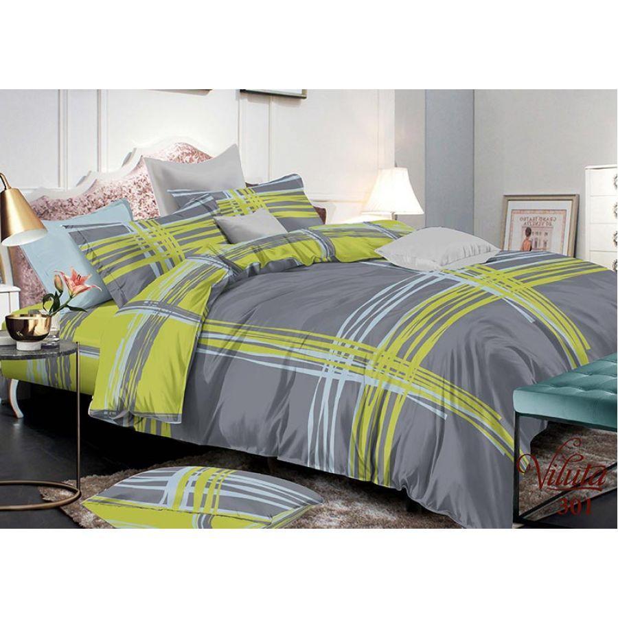 Комплект постельного белья евро №6 Viluta 301, сатин твил