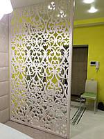 Декоративная ажурная перегородка из МДФ окрашенная