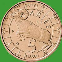 Сан Марино 5 евро 2018 г. Овен.