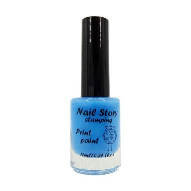 Лак для стемпинга Nail Story №11 (голубой)