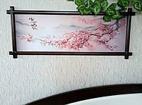 """Картина в деревянной раме """"Ветка Сакуры"""" (венге)"""
