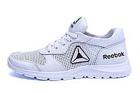 Мужские кожаные летние кроссовки, перфорация Reebok Classic  White (реплика) р. 40 41 42 43 44, фото 1