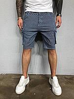 Стильные мужские шорты синие