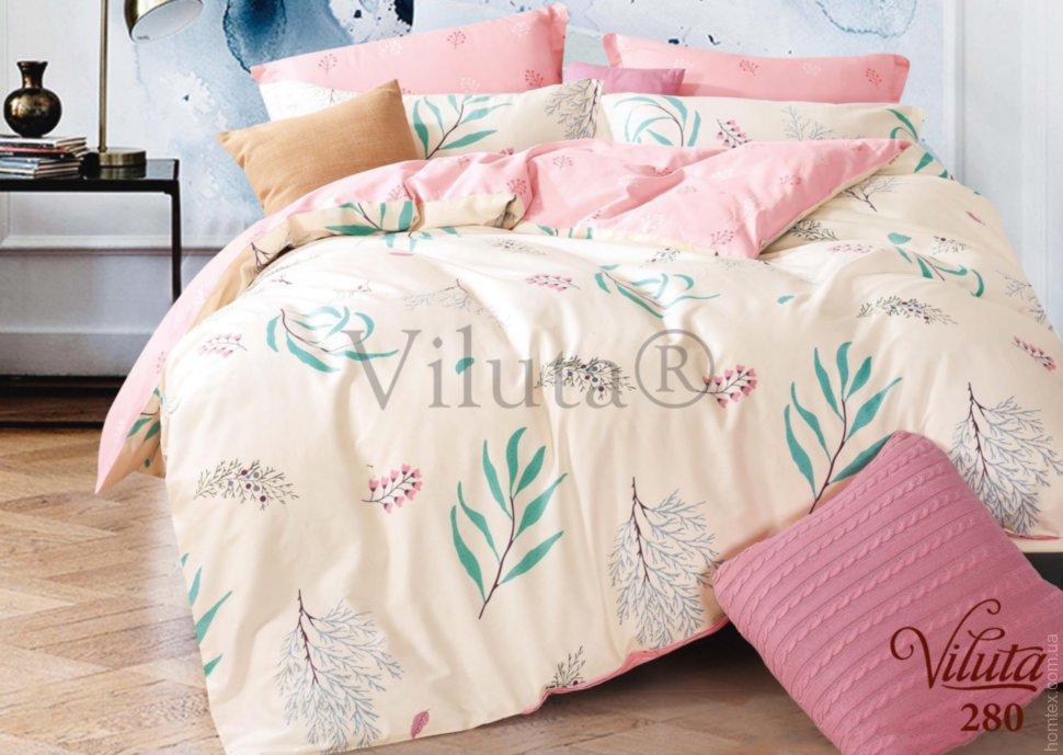 Комплект постельного белья евро №6 Viluta 280, сатин твил