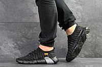 Мужские кроссовки найк в стиле чорні із сірим