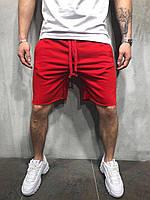 Стильные мужские шорты красные трикотажные