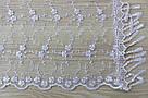 Шарф білий фатиновий ажурний святковий 150-13, фото 2