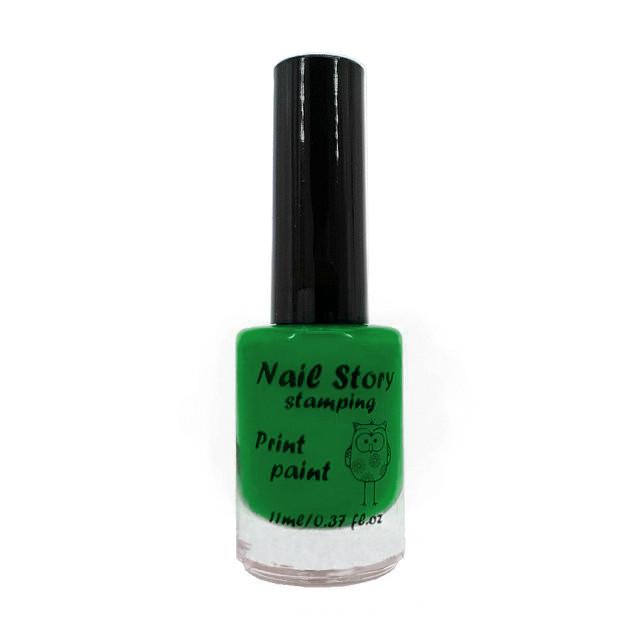 Лак для стемпинга Nail Story №24 (зелённый весенний)