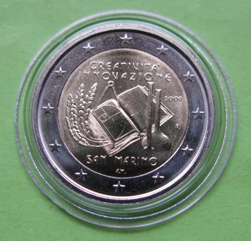 Сан Марино 2 евро 2009 г. Европейский год творчества и инноваций.