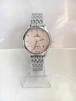 Женские наручные часы ch-nel (в стиле Шанель), серебристо-розовый цвет