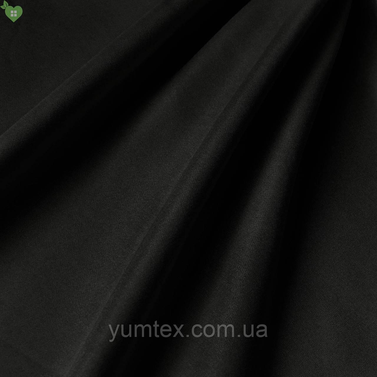 Подкладочная ткань с матовой фактурой черная Испания