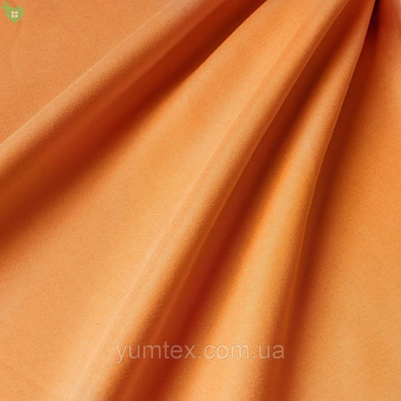 Подкладочная ткань с персиковой фактурой оранжевая Испания