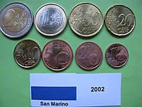 Сан Марино набор евро монет 2002 г. UNC
