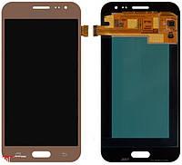 Дисплей Samsung GH97-17940B J200F Galaxy J2 + сенсор золотой сервисный