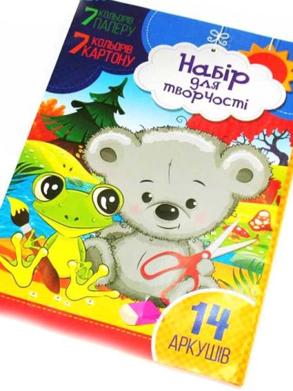 Набор картон цветной + бумага УП-225 (7+7 листов)
