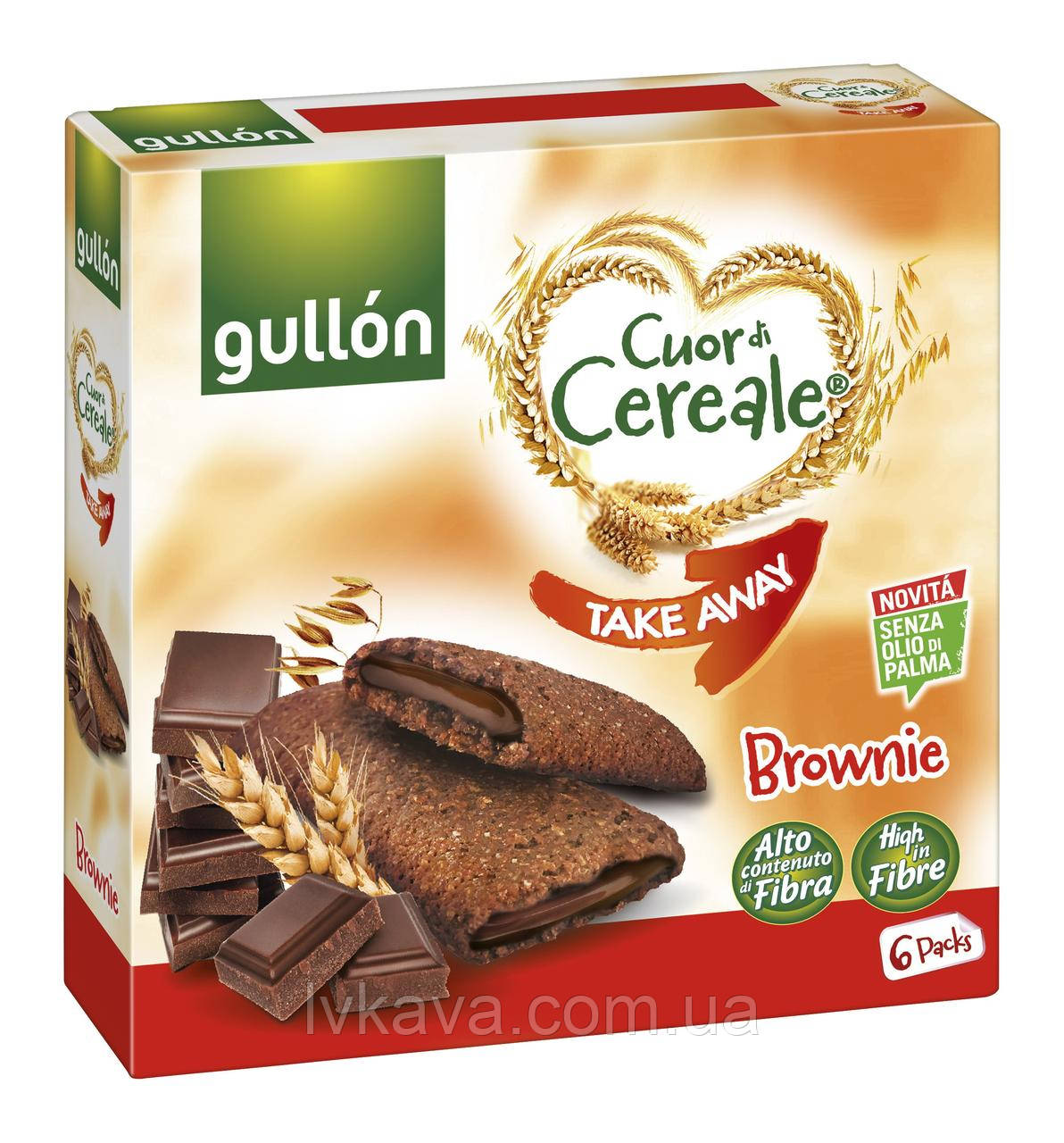 Печенье овсяное  Gullon Cuor di Cereale Take Away Brownie , 202 гр