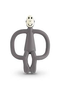 Іграшка-прорізувач Мавпочка для дітей з 3-х міс. ТМ MATCHISTICK MONKEY Сірий MM-T-001