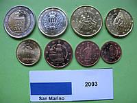Сан Марино набор евро монет 2003 г. UNC