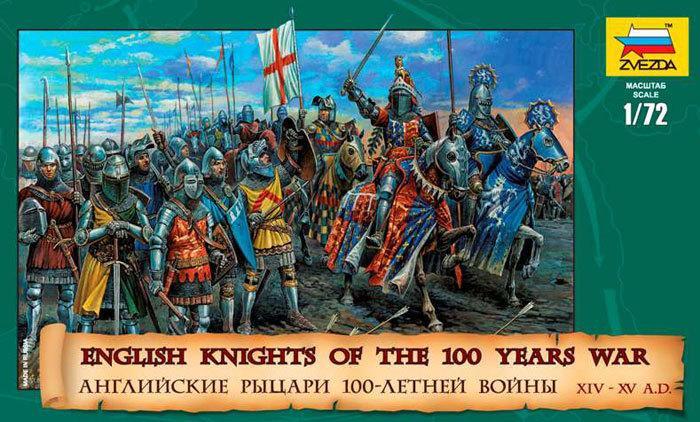 Английские рыцари 100-летней войны. Фигурки солдатиков. 1/72 ZVEZDA 8044