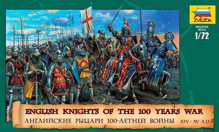 Английские рыцари 100-летней войны. Фигурки солдатиков. 1/72 ZVEZDA 8044 , фото 2