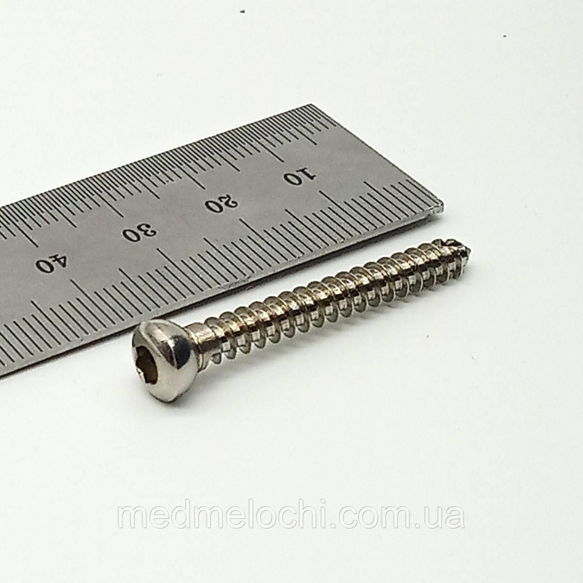 Гвинт кортикальний D=4,5мм, 40мм