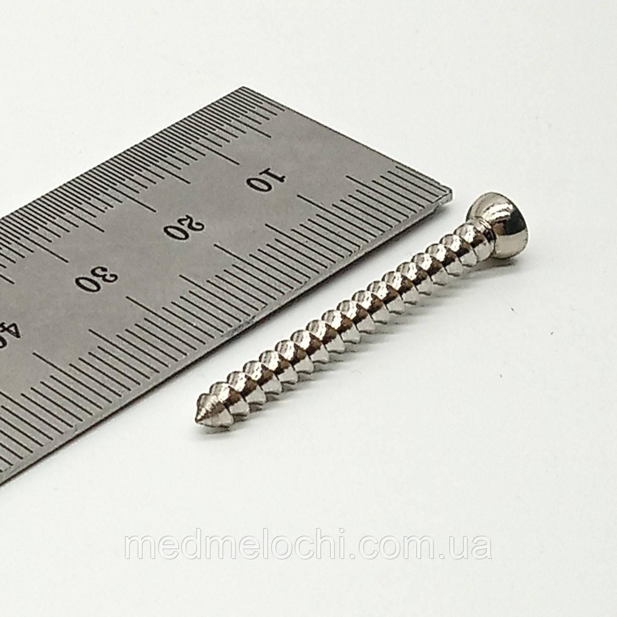 Винт малый спонгиозный D=3,5мм, 36мм
