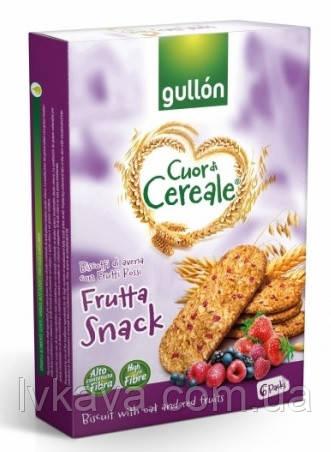 Печенье овсяное  Gullon Cuor di Cereale Frutta Snack , 240 гр, фото 2