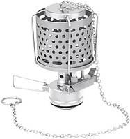 Лампа газовая с металлическим плафоном с пьезоподжигом Tramp серебристого цвета для туризма