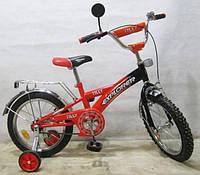 """Велосипед Tilly Explorer 14"""" T-21415 orange + black с дополнительными колесами"""