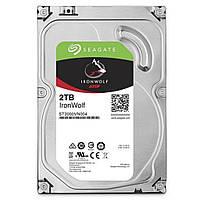 "Жесткий диск 3.5"" 2 Тб/Tb Seagate IronWolf, SATA3, 64Mb, 5900 rpm (ST2000VN004), винчестер hdd для компьютера"