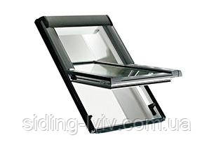 Мансардне вікно ROTO Designo WDF R48 K WD ПВХ 74*98 Центральна вісь відкривання, внутрішнє скло - триплекс