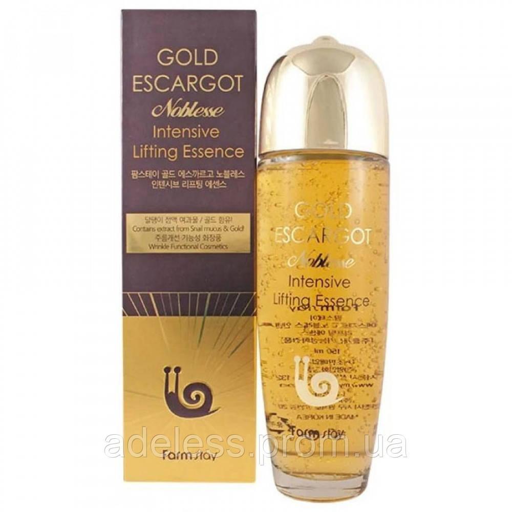 Сыворотка с экстрактом Королевской Улитки и Золота Farm Stay Gold Escargot Noblesse Lifting Essence, 150 мл