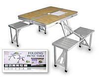Стол складной 4 места для пикника 1300х850х680 TABLE-002, фото 1
