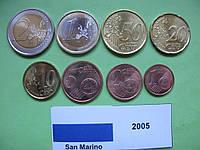 Сан Марино набор евро монет 2005 г. UNC