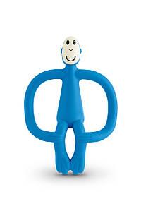 Іграшка-прорізувач Мавпочка для дітей з 3-х міс. ТМ MATCHISTICK MONKEY Синій MM-T-002
