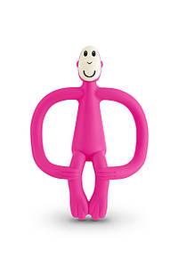 Іграшка-прорізувач Мавпочка для дітей з 3-х міс. ТМ MATCHISTICK MONKEY Рожевий MM-T-003