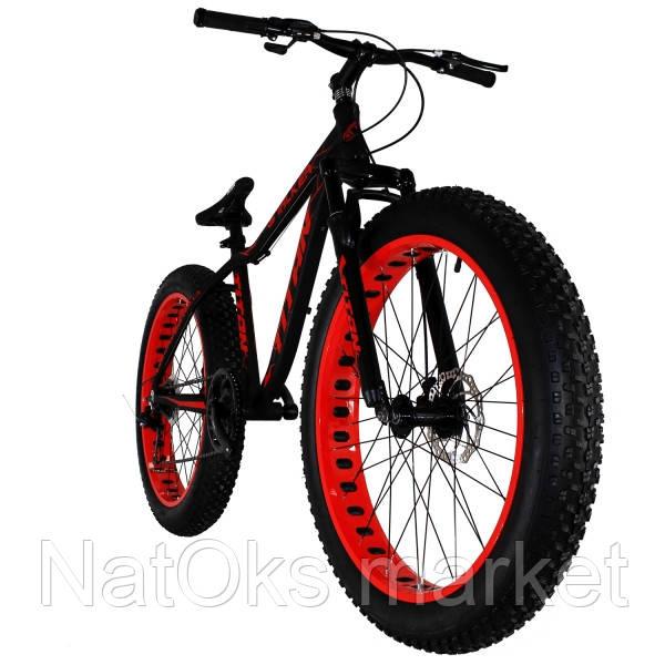"Велосипед Titan Stalker 26"" Black-Red (широкие колеса)"