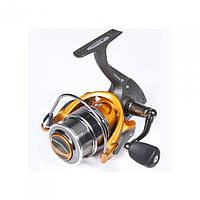Катушка безынерционная для удилища Salmo Elite MATCH 8 3000FD / Катушка для рыбалки желто- серого цвета