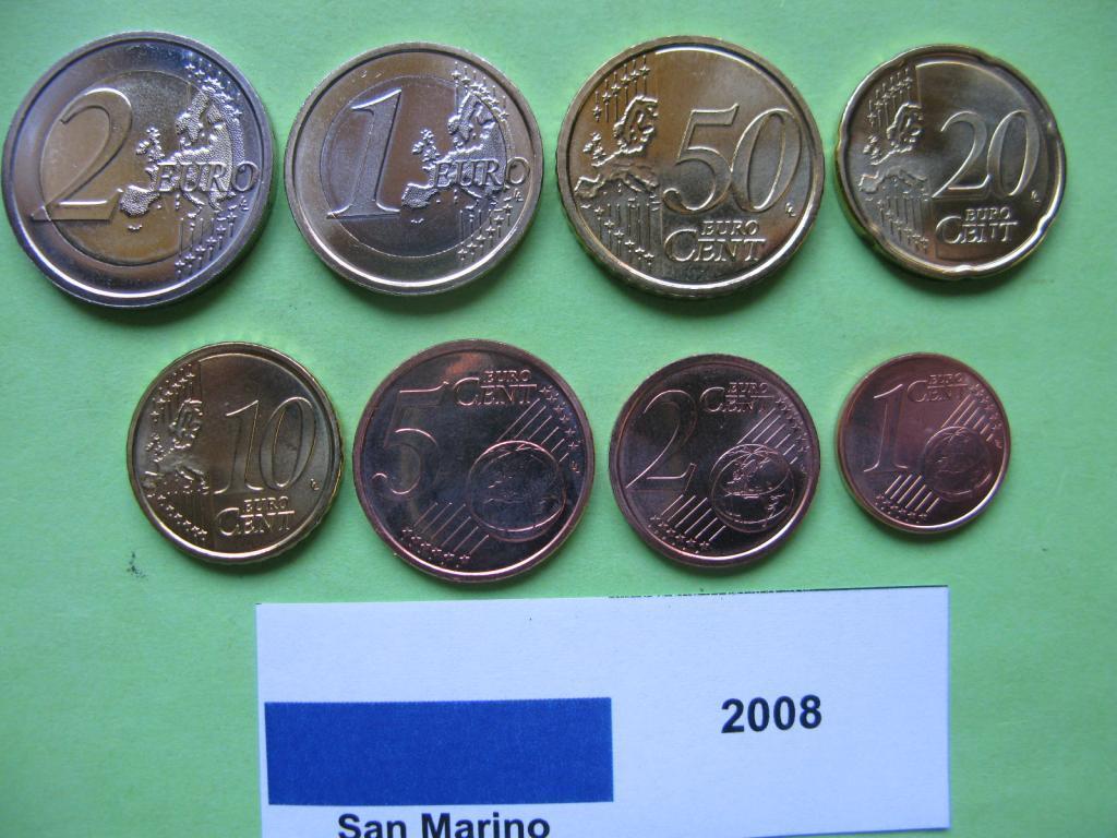 Сан Марино набір монет євро 2008 р. UNC