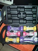 Гантели для фитнеса YORK набор гантелей в кейсе 3 пары гантели для фитнеса набор