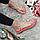 Сандали женские текстильные через палец на плоской подошве розовые, фото 2
