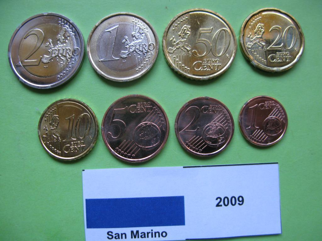Сан Марино набор евро монет 2009 г. UNC