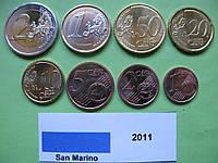 Сан Марино набір євро монет 2011 р. UNC