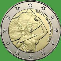 Мальта 2 євро 2014 р. Незалежність 1964 року. . UNC.